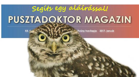 Aláírásgyűjtés a Pusztadoktor Magazinért